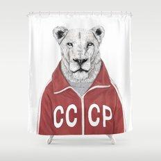 Soviet lion Shower Curtain