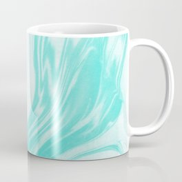 Enoshima - spilled ink abstract painting water ocean japanese wave marble marbling marbled pattern Coffee Mug