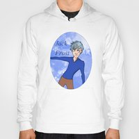 jack frost Hoodies featuring Jack Frost by AlysIndigo