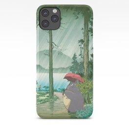 Anime and vintage japanese woodblock mashup iPhone Case