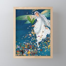 Bride in Paris with Calla Lilies and Butterflies portrait painting by George Wolfe Plank Framed Mini Art Print