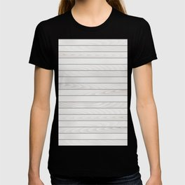 White Wood Texture T-shirt