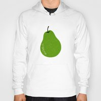 pear Hoodies featuring Pear by Roland Lefox