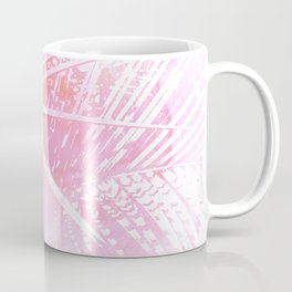 Abstract Pink Palm Tree Leaves Design Coffee Mug