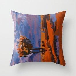 Vertical Landscape Throw Pillow