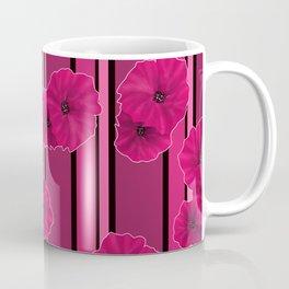 Floral pattern on striped background Coffee Mug