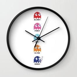 Smoky Pacman Wall Clock