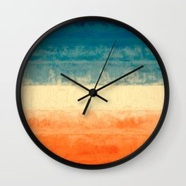 On Fire #abstract #painting Wall Clock