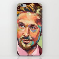ryan gosling iPhone & iPod Skins featuring Hey, girl. It's Ryan Gosling by Cori Redford