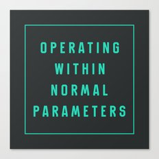 Normal Parameters Canvas Print