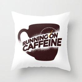 Cunning On Caffeine Throw Pillow