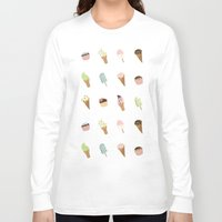 dessert Long Sleeve T-shirts featuring Dessert Yellow by Olya Yang
