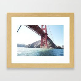 Summer in California - Golden Gate Bridge  Framed Art Print