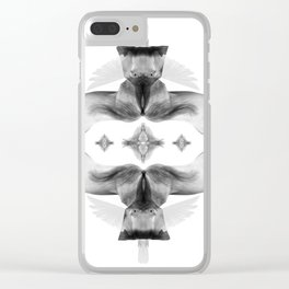 The white wedding of horses and doves Clear iPhone Case