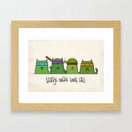 Turtlecats Framed Art Print