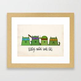 Turtlecats Framed Art Print