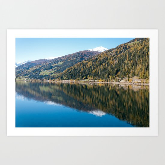 Lake / ekaL Art Print