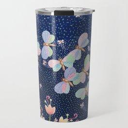 Moonlight Moth Meander Travel Mug