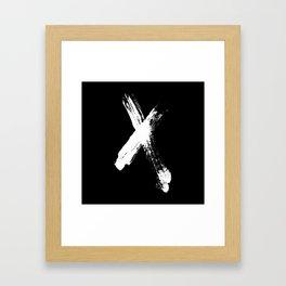 X marks the spot (white) Framed Art Print