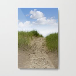 Trail over the Dune to the Summer Beach Metal Print