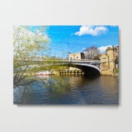 York City Lendal bridge with textured background Metal Print