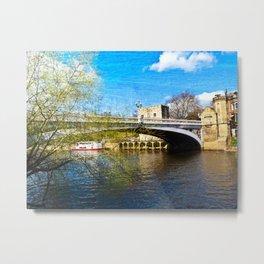 York City Lendal bridge with textured background Metal Print