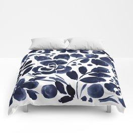 Navy Floral Comforters