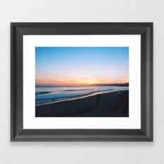 sands sunset Framed Art Print