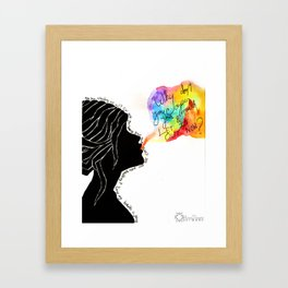 Easy Talk Framed Art Print