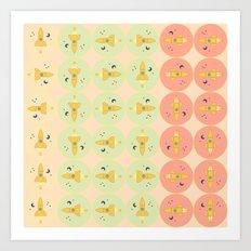 Spaceships pattern Art Print
