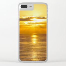 Golden Southern California Summer Sunset Clear iPhone Case