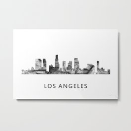 Los Angeles, California Skyline WB BW Metal Print