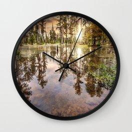 Swamp Shallows Wall Clock