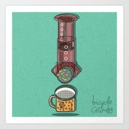 #coffeeoutside Art Print