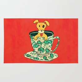 Dinnerware Sets - puppy in a teacup Rug