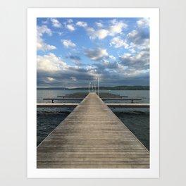 Lake Pier Art Print