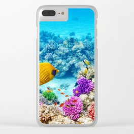 Corals and Fishes 2 Clear iPhone Case