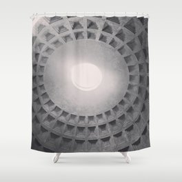 The Pantheon dome, architectural photography, Michael Kenna style, Rome photo Shower Curtain