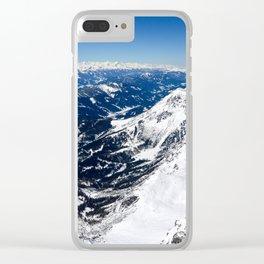 Infinite Blueness Clear iPhone Case
