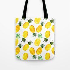 Pineapple vibes || watercolor Tote Bag