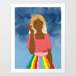 Brazil Girl Art Print