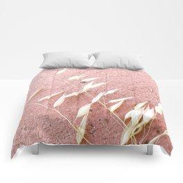 Blush Pink Plant Comforters