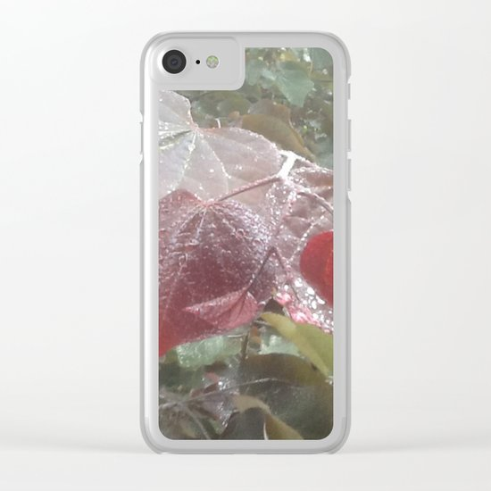 garden in the rain Clear iPhone Case