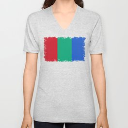 Flag of the planet Mars - Diff TEE version Unisex V-Neck