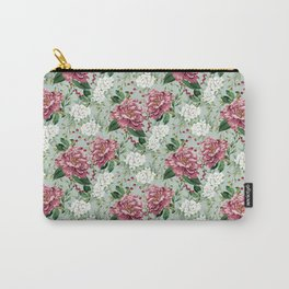 Peony Blossom(Blue) Carry-All Pouch