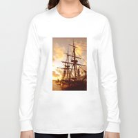 pirate ship Long Sleeve T-shirts featuring PIRATE SHIP :) by Teresa Chipperfield Studios