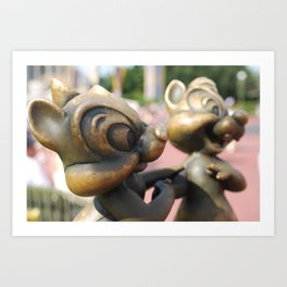 Chip and Dale Art Print