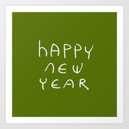 happy new year 16 Art Print