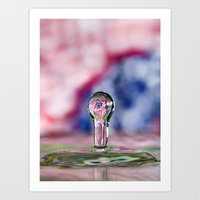 patriotic Art Prints featuring Patriotic Splash by ThePhotoGuyDarren