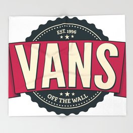 Vans off the wall Throw Blanket
